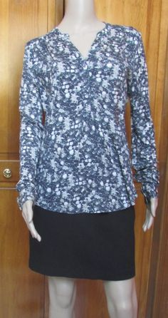 Calvin Klein Jeans  Multi-Color Long Sleeve Knit Top Sz M XL NWT #CalvinKlein #KnitTop #Casual