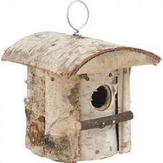 NICHOIR - VOLIÈRE Nichoir à oiseaux en Bouleau 13,22 Homemade Bird Feeders, Diy Bird Feeder, Rustic Log Furniture, Rustic Wood Box, Decorative Bird Houses, Bird Aviary, Bird Boxes, Diy Wood Signs, Home Living