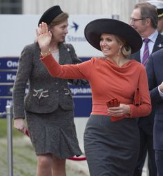 Queen Maxima of The Netherlands and King Willem-Alexander of The Netherlands Visit The North East Of Holland