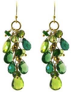 Green Grapevine Earrings
