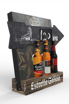 Display Estrella Galicia Flecha Diseño de PLV | POP POS Retail Design #osdesign_es #diseño #design #plv #display Bottle Opener, Barware, Display Stands, Arrows, Point Of Sale, Stars, Pos, Tumbler