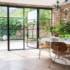 Crittall windows – everything you need to know about black s.- Crittall windows – everything you need to know about black steel frames – Crittall windows – everything you need to know about black steel frames – - House Extension Design, House Design, Crittal Doors, Crittall Windows, Steel Doors And Windows, Black Windows, Steel Frame Doors, French Windows, Steel Frame House