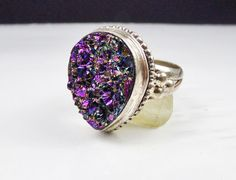 Sterling Silver 925 Druzy Drusy Ring by LittleBittreasures on Etsy Exceptional look, gift for her?