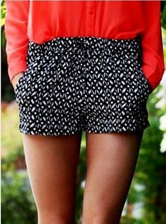 Adorable black with white touch short