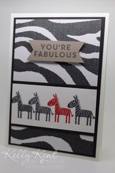 The Fabulous One in Every Crowd! Go Wild DSP & Zoo Babies Stamp Set. Kelly Kent - mypapercraftjourney.com. Kids Cards, Baby Cards, Stampinup, Stampin Up Catalog, Kids Birthday Cards, Animal Cards, Halloween Cards, Creative Cards, Scrapbooking Layouts