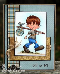 """Paper Perfect Designs by Kim O'Connell: Kraftin' Kimmie Stamps """"Off We Go"""""""