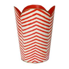Orange Zebra Wastebasket