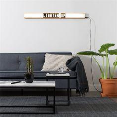 Met deze Light Saber wandlamp van Zuiver zet je jouw favoriete woord of quote in de spotlight! De letters in deze lightbox kun je namelijk zelf aanpassen; er worden 105 nummers én letters meegeleverd. Welke quote zet jij op deze lichtbak?