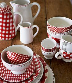 At Home with Marieke Red Dinnerware