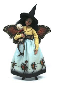 OOAK Sculpted Witch ArtDoll by primdolly on Etsy, $275.00