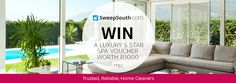 Get a 3 hour free clean + standing a chance to WIN a luxury spa voucher worth 5 Star Spa, Clean House, Competition, Stars, Luxury, Box, Snare Drum, Sterne