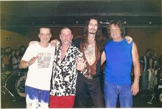 Franklin Paolillo; Rolando Castello Junior; Paulo Zinner, e Marinho Thomaz, quatro feras da bateria no Rock brasileiro