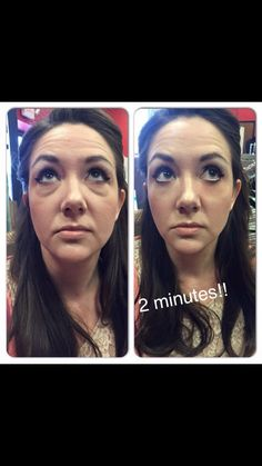 instantly ageless see those wrinkles and bags disappear on 2 minutes and last for 6-8 hrs!
