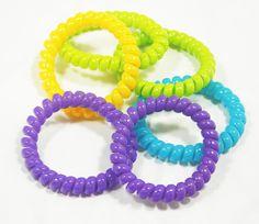 10PCS Multi-color Flexible Plastic Spiral Coil Phone Wire ...