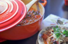 {Spicy Lime Chicken Soup with Cilantro}