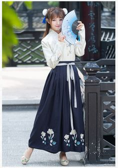 Korean Fashion – How to Dress up Korean Style – Designer Fashion Tips Japanese Outfits, Japanese Fashion, Chinese Fashion, Hanfu, Oriental Fashion, Asian Fashion, Elegant Dresses, Pretty Dresses, Modern Hanbok