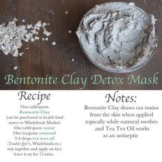 After wearing heavier then usual make-up for holiday events and eating my weight in desserts I think my skin needs a little detox! Chec… in 2020 Homemade Beauty, Diy Beauty, Beauty Tricks, Beauty Secrets, Beauty Care, Beauty Skin, Bentonite Clay Detox, Vaseline Beauty Tips, Beauty Detox