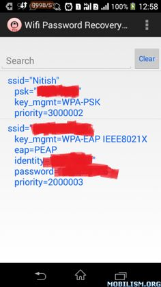 Wifi Password recovery pro v2.4Requirements: 2.2 and up , RootOverview: Wanted to connected with your new device or friends wanted to use your wifi but you don't remember the password.  Rooted device needed. Wanted to connected with your new...