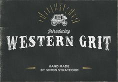 Western Grit hand made typeface by It's me simon on Creative Market