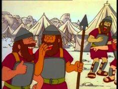 tekenfilm david en Goliath