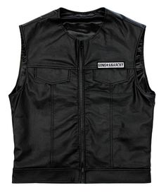 BikerOrNot Store - Sons of Anarchy - Faux Leather Vest - Mens, $89.97 (http://store.bikerornot.com/sons-of-anarchy-faux-leather-vest-mens/)