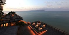 Six Senses Restaurant in Koh Samui, Thailand.  Makes you want to head here just for a drink.
