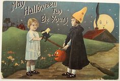"Vintage Halloween Postcard ""BARTON & SPOONER"" BS by riptheskull, via Flickr"