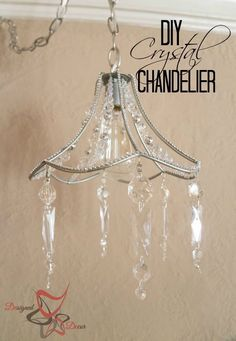 How to Turn An Old Metal Lamp Shade into A Chandelier Have an Old Metal Lamp Shade? Why Not Make a Chandelier With It! – You can use any old metal lamp shade and turn it in to a Chandelier with a lamp hanging kit, Closet Chandelier, Lampshade Chandelier, Chandelier Makeover, Chandelier Shades, Vintage Chandelier, Lampshades, Chandelier Crystals, Crystal Chandeliers, Crystal Decor
