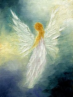 Angel art...makes me think of my Mom.