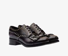 Prada Woman - Lace-up - Black - 1E150H_3H9E_F0002_F_030