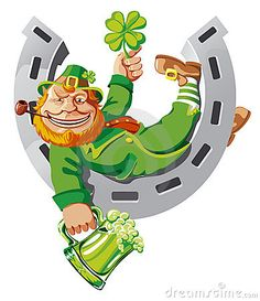 Illustration about Leprechaun lying on a horseshoe holding shamrock and mug of green beer. Illustration of card, fancy, luck 7898214 Leprechaun Clipart, Evil Leprechaun, Leprechaun Tattoos, Leprechaun Pictures, St Patrick's Day Traditions, Celtic Astrology, Simpson Wallpaper Iphone, Clover Tattoos, Oakland Raiders Football