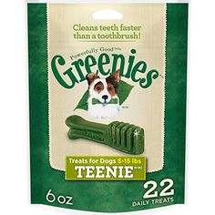 GREENIES Dental Dog Treats, Teenie, Original Flavor, 22 Treats, 6 oz. >>> Read more reviews of the product by visiting the link on the image.