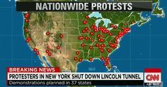 """PROTESTS NATIONWIDE IN REACTION TO FERGUSON GRAND JURY DECISION -- (CNN) — [Breaking news update, posted at 10:45 p.m. ET] A spokesman for the Los Angeles Police Department said officers there are allowing people to vent. """"We have detained people. We don't have any property damage to speak of. We"""