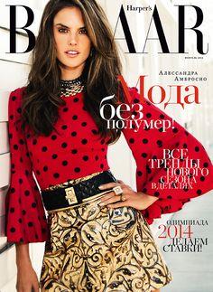 Alessandra Ambrosio for Harper's Bazaar Russia - February 2014