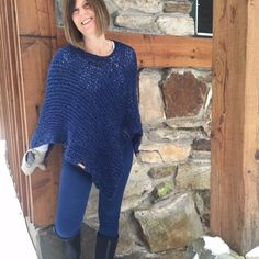 The Windham Poncho is available in my shop on Etsy- The Autumn Acorn. You can buy the knitting pattern or the finished poncho.