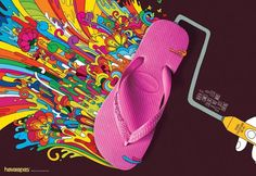 Havaianas Sandals: Crank. Copy: When it come to colors, less is not more. It's just boring. Havaianas. A Brazilian original since 1962.