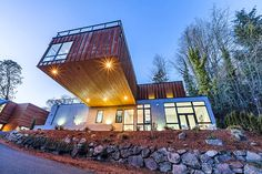 Cantilevered home takes advantage of a tiny, sloping lot in Kirkland, Washington | Inhabitat - Sustainable Design Innovation, Eco Architecture, Green Building