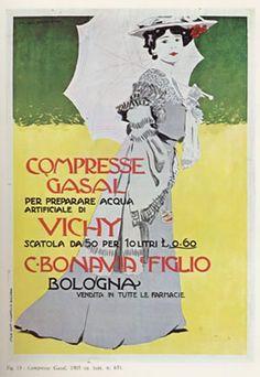 """Anno: 1905 Soggetto: """"Compresse Gasal, C.Bonavia & Figlio"""" - Stampa Chappuis, Bologna Provenienza: Raccolta Salce ,Treviso"""