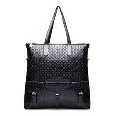 Alligator Grain Women Large Shoulder Bag Simple Shopping Handbag