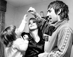 Amanda Moon, Keith Moon, and Kim Kerrigan {1967}