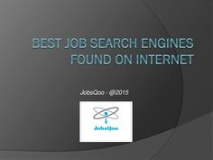 Best job search engines found on internet