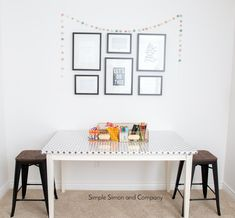 sewing room 16 - Simple Simon and Company Sewing Room Decor, My Sewing Room, Sewing Rooms, Sewing Spaces, Space Crafts, Craft Space, Plastic Tables, Hobby Room, Kid Table