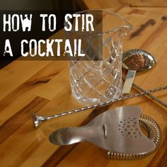 It seems simple, but stirring can be tricky to get right!  This week we're going over proper stirring technique.