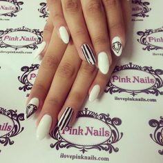 nails pink white black - Hľadať Googlom