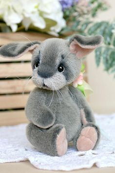 Svotti by Nataliia Tovt Bunny Paws, Cute Bunny, Bunnies, Paper Mache Animals, Fabric Animals, Teddy Bears For Sale, Peter Rabbit And Friends, Handmade Stuffed Animals, Plushie Patterns