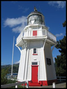 Akaroa Head lighthouse [1880 - Akaroa, Canterbury, South Island, New Zealand]