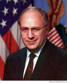 CANVAS Dick Cheney Answering Questions Regarding Persian Gulf Art print POSTER