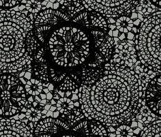 idea: doilies black fabric by katarina on Spoonflower - custom fabric