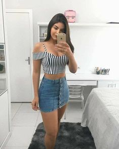47 Fantastic spring outfit ideas that look pretty – Spring Outfits Mode Outfits, Night Outfits, Sexy Outfits, Spring Outfits, Trendy Outfits, Girl Outfits, Fashion Outfits, Womens Fashion, Summer Outfit