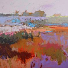 I especially like her juxtaposition of colors.  LARGE LANDSCAPES - jane schmidt artworks